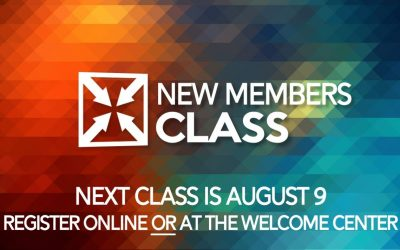 New Members Class August 9th