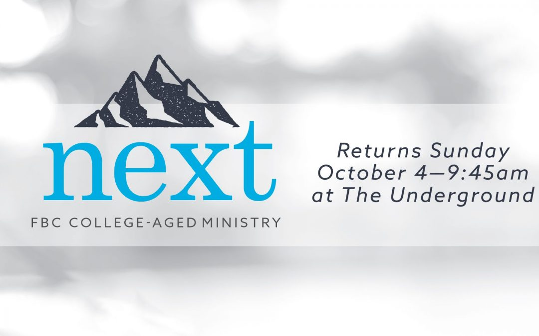 College-aged Ministry Starting Oct. 4