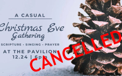 Christmas Eve Outdoor Gathering Cancelled