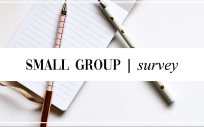 Small Group Ministry Interest Survey