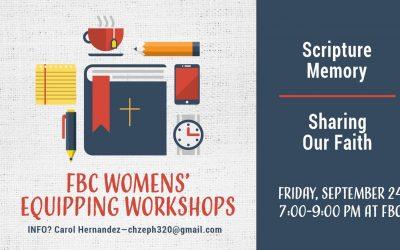 FBC Women's Equipping Workshops Update