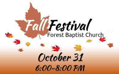 FBC Fall Festival is October 31